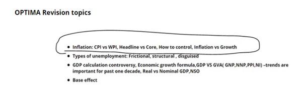 optima revision topics